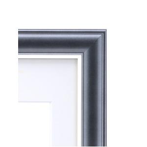 カラー遺影額(細い枠) ■仏事用額・葬儀額(遺影額)  (ブラック)