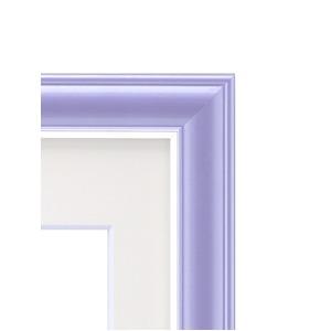 カラー遺影額(細い枠) ■仏事用額・葬儀額(遺影額)  (バイオレット)