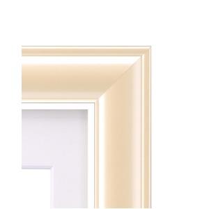 カラー遺影額(太い枠) ■仏事用額・葬儀額(遺影額) (クリーム)