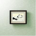 【横山大観生誕150年】富士図・富士絵画・高精彩特色技術絵■横山大観 霊峰富士額(大) 冨士聳ゆ