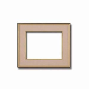 【和額】黒い縁に金色フレーム 日本画額 色紙額 木製フレーム ■黒金 色紙F4サイズ(333×242mm) ベージュ