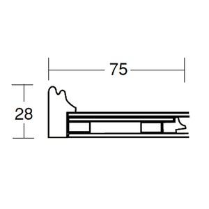 【和額】黒い縁に金色フレーム 日本画額 色紙額 木製フレーム ■黒金 色紙F6サイズ(410×318mm) 紺