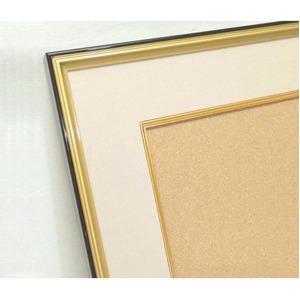 【和額】黒い縁に金色フレーム 日本画額 色紙額 木製フレーム ■黒金 色紙F6サイズ(410×318mm) ベージュ
