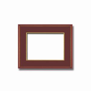 【和額】赤い縁に金色フレーム 日本画額 色紙額 木製フレーム ■赤金 色紙F4サイズ(333×242mm) エンジ