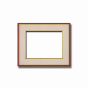 【和額】赤い縁に金色フレーム 日本画額 色紙額 木製フレーム ■赤金 色紙F4サイズ(333×242mm) ベージュ