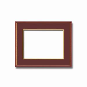 【和額】赤い縁に金色フレーム 日本画額 色紙額 木製フレーム ■赤金 色紙F6サイズ(410×318mm) エンジ