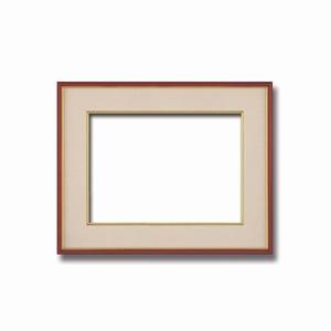 【和額】赤い縁に金色フレーム 日本画額 色紙額 木製フレーム ■赤金 色紙F6サイズ(410×318mm) ベージュ