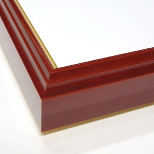 【和額】赤い縁に金色フレーム 日本画額 色紙額 木製フレーム ■赤金 色紙F8サイズ(455×380mm) エンジ