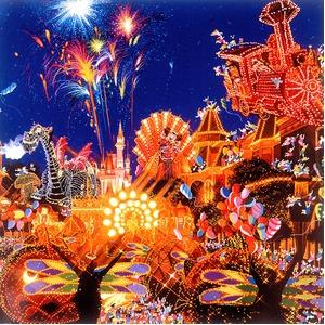 【マイナスイオンフレーム】大きなポスター額 ■ヒロ・ヤマガタポスター額DX「ディズニー エレクトリカルパレード」