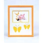 蝶々の額 黄色い額 ■いわさきちひろアート額 「乳母車と赤ちゃん」