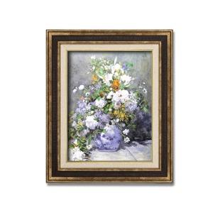 ダークブラウンアンティーク額 【額装品】世界の名画9573 F6 ルノワール「花瓶の花」