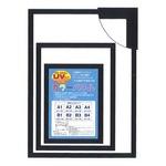【パネルフレーム】MDFフレーム・UVカット付 ■カラーポスターフレームA1(841×594mm)ブラック