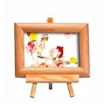 いわさきちひろ 心温まるナチュラル木製フォトフレーム イーゼル付き (花と少女)