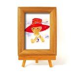 いわさきちひろ 心温まるナチュラル木製フォトフレーム イーゼル付き (赤い帽子)