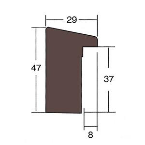 【仮縁油絵額】高級仮縁・キャンバス額・安価油絵額 ■木製仮縁P80(1455×970mm)ダークブラウン