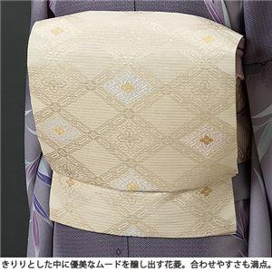西陣織九寸名古屋帯(仕立上り) 花菱