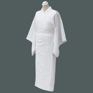 本麻長襦袢(一部式) 白 引き衿セット M