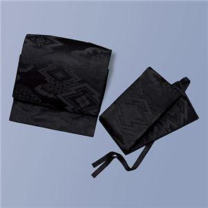 正絹喪装用軽装帯(夏冬兼用) 黒