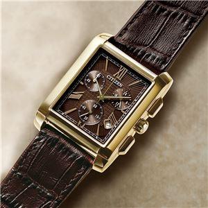 シチズン エコ・ドライブクロノグラフ 腕時計 - 拡大画像