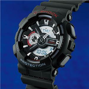 カシオ Gショック腕時計 GA-110 ブラック - 拡大画像