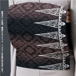 正絹西陣織軽装帯 黒系 一重太鼓