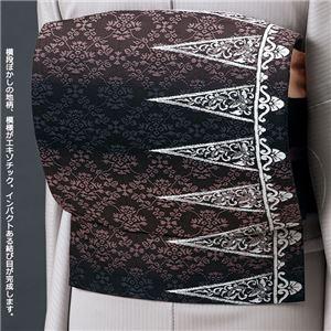 正絹西陣織軽装帯 黒系 二重太鼓