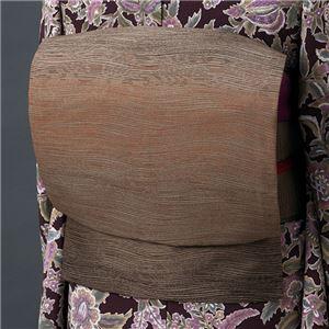 正絹西陣織九寸名古屋帯(仕立上り) 茶系