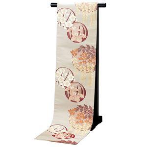 高級桐生織大柄京袋帯(仕立上り) クリーム