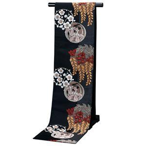 高級桐生織大柄京袋帯(仕立上り) 黒