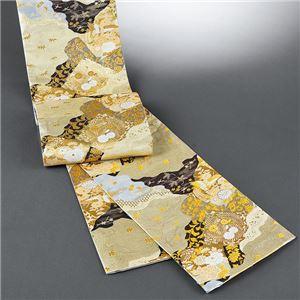 桐生織袋帯(仕立上り) 金地