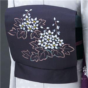 正絹手描き染名古屋帯(仕立上り) 草花