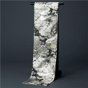 桐生織袋帯(仕立上り) 黒