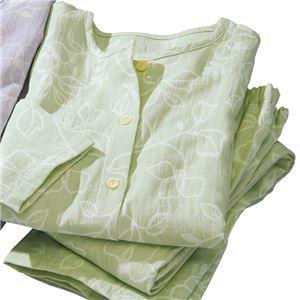 三河木綿のダブルガーゼパジャマ 【ライトグリーン 3L : 3L】