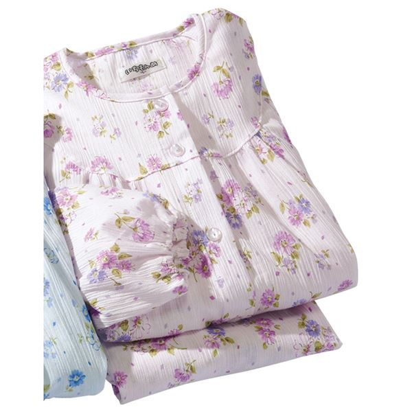 日本製楊柳ゆったりパジャマ 【パープル 4L : 4L】f00