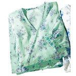 2重ガーゼの湯上りパジャマ 【ライトグリーン LL : LL】