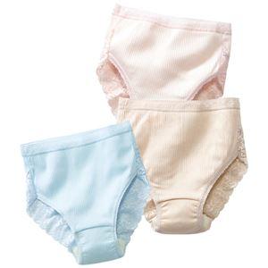 日本製肌ざわりいい綿100%安心ショーツ3色組 【L : L】 h01