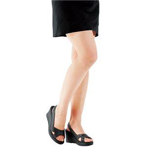 洗える美脚サンダル 【ブラック 4: LL(25.0~25.5cm)】 h02