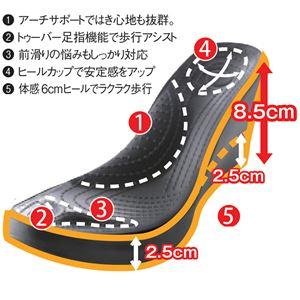洗える美脚サンダル 【ブラック 4: LL(25.0~25.5cm)】 f04