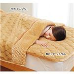 吸湿発熱・断熱・消臭・軽寝具シリーズ ベージュ 【4: 毛布ダブル】の画像