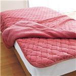 吸湿発熱・断熱・消臭・軽寝具シリーズ ピンク 【4: 毛布ダブル】の画像