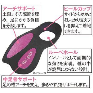 リゲッタ ウェッジパンプスシリーズ アンクルストラップ ブラック 【4: S 9cmヒール】 h03