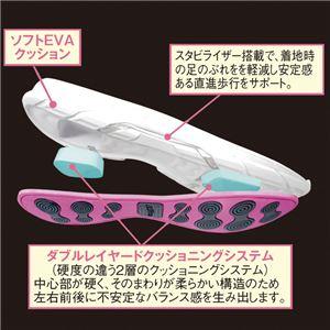 クロストーン ファッションスニーカー ホワイト/ピンク 【1: 23.0cm】 h03