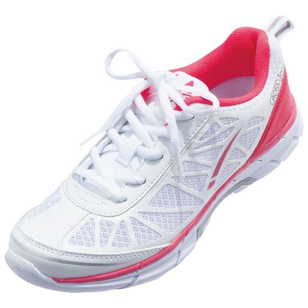 クロストーン ファッションスニーカー ホワイト/ピンク 【3: 24.0cm】f00