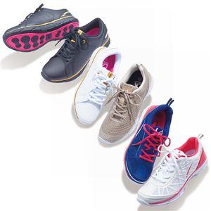 クロストーン ファッションスニーカー ホワイト/ピンク 【3: 24.0cm】 h02