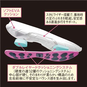 クロストーン ファッションスニーカー ホワイト/ピンク 【3: 24.0cm】 h03