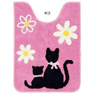 ふくろうとネコのトイレマットシリーズ ネコ 【3: ロングマット】
