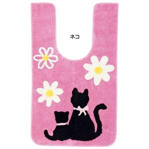 ふくろうとネコのトイレマットシリーズ ネコ 【4: 耳長ロングマット】