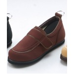 介護靴/リハビリシューズ ブラウン LK-1(外履き) 【片足22cm】 3E 左右同形状 手洗い可/撥水 (歩行補助用品) 日本製