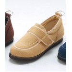 介護靴/リハビリシューズ ベージュ LK-1(外履き) 【片足22.5cm】 3E 左右同形状 手洗い可/撥水 (歩行補助用品) 日本製
