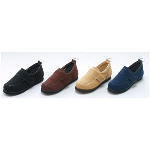 介護靴/リハビリシューズ ブラック(黒) LK-1(外履き) 【片足25cm】 3E 左右同形状 手洗い可 (歩行補助用品) 日本製画像2